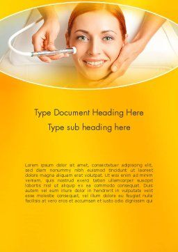 Medical Skin Care Word Template, Cover Page, 13910, Medical — PoweredTemplate.com