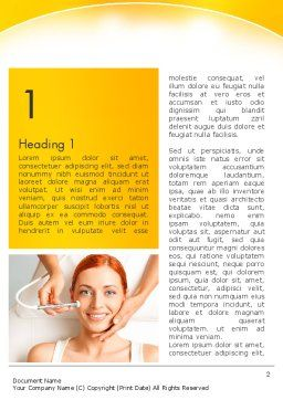 Medical Skin Care Word Template, First Inner Page, 13910, Medical — PoweredTemplate.com