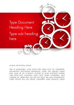 Clock Faces Word Template, Cover Page, 13911, Business Concepts — PoweredTemplate.com