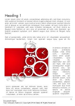 Clock Faces Word Template, First Inner Page, 13911, Business Concepts — PoweredTemplate.com