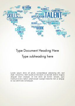 Recruiting Word Cloud Word Template Cover Page