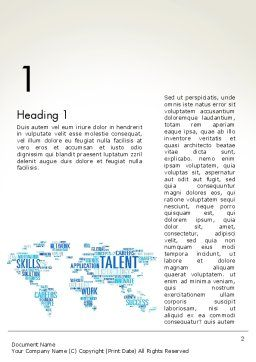 Recruiting Word Cloud Word Template First Inner Page