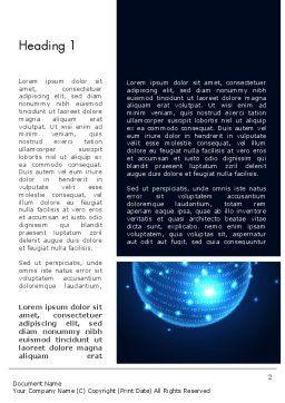 Digital Glowing Globe Abstract Word Template, First Inner Page, 13914, Technology, Science & Computers — PoweredTemplate.com