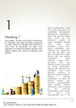 Money Growth Word Template First Inner Page
