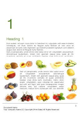 Fruit Mix Word Template, First Inner Page, 13917, Food & Beverage — PoweredTemplate.com