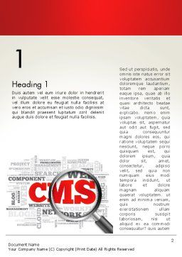 CMS Word Cloud Word Template, First Inner Page, 13919, Technology, Science & Computers — PoweredTemplate.com