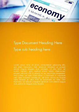 Economy Definition on Touch Pad Word Template Cover Page