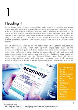 Economy Definition on Touch Pad Word Template First Inner Page