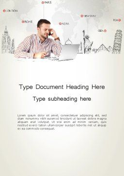 Travel Destinations Word Template Cover Page