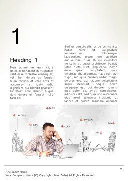 Travel Destinations Word Template First Inner Page