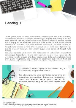 Office Desktop Workspace Word Template, First Inner Page, 13928, Business — PoweredTemplate.com