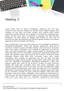 Office Desktop Workspace Word Template, Second Inner Page, 13928, Business — PoweredTemplate.com