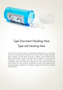 Medicine Bottle Word Template, Cover Page, 13932, Medical — PoweredTemplate.com