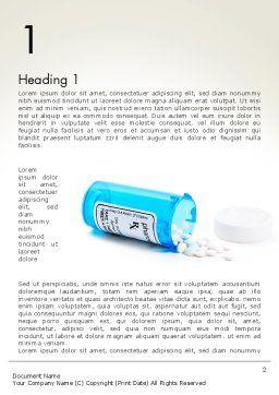 Medicine Bottle Word Template, First Inner Page, 13932, Medical — PoweredTemplate.com