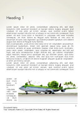 Travel by Airplane Word Template, First Inner Page, 13936, Cars/Transportation — PoweredTemplate.com