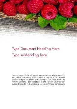 Red Raspberry Word Template Cover Page