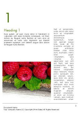Red Raspberry Word Template First Inner Page