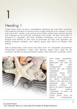Shells and Starfish Word Template, First Inner Page, 13939, Holiday/Special Occasion — PoweredTemplate.com