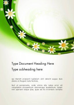 Spring Flowers Word Template, Cover Page, 13942, Nature & Environment — PoweredTemplate.com