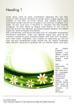 Spring Flowers Word Template, First Inner Page, 13942, Nature & Environment — PoweredTemplate.com