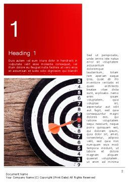 Dart Hitting Target Word Template, First Inner Page, 13947, Business Concepts — PoweredTemplate.com