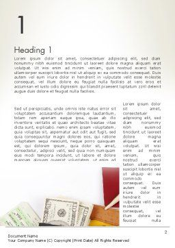 Preparing for Vacation Word Template, First Inner Page, 13948, Careers/Industry — PoweredTemplate.com