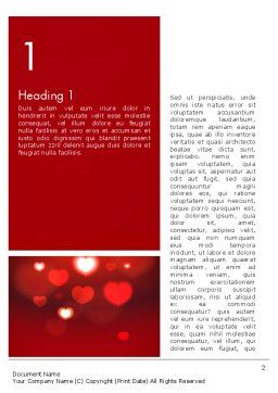 Hearts Love Theme Word Template, First Inner Page, 13949, Holiday/Special Occasion — PoweredTemplate.com