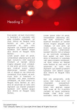 Hearts Love Theme Word Template, Second Inner Page, 13949, Holiday/Special Occasion — PoweredTemplate.com
