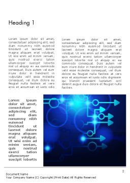 Blue Techno Word Template, First Inner Page, 13950, Technology, Science & Computers — PoweredTemplate.com