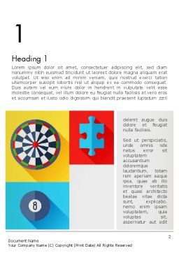 Gambling Theme Word Template First Inner Page