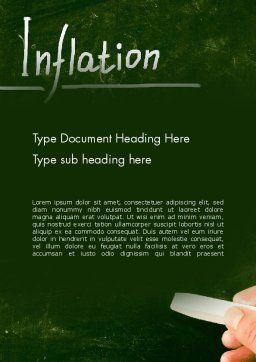 Inflation Lettering Word Template Cover Page
