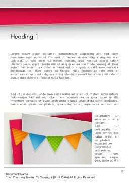 Paper Birthday Banner Word Template, First Inner Page, 13958, Holiday/Special Occasion — PoweredTemplate.com