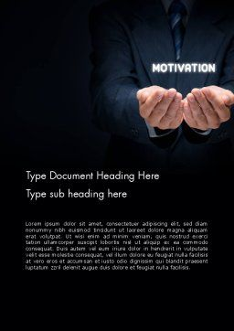 Motivation Word Template Cover Page