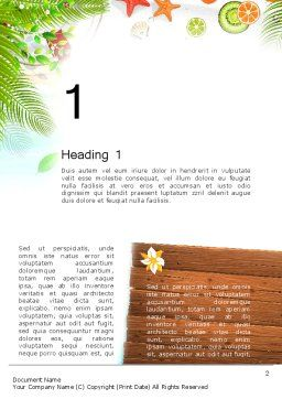 Tropical Holidays Word Template, First Inner Page, 13962, Holiday/Special Occasion — PoweredTemplate.com