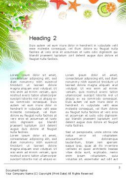 Tropical Holidays Word Template, Second Inner Page, 13962, Holiday/Special Occasion — PoweredTemplate.com