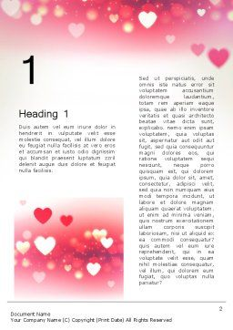 Pink Valentines Day Word Template, First Inner Page, 13973, Holiday/Special Occasion — PoweredTemplate.com