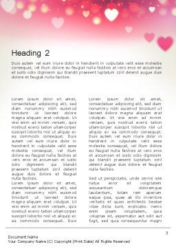Pink Valentines Day Word Template, Second Inner Page, 13973, Holiday/Special Occasion — PoweredTemplate.com