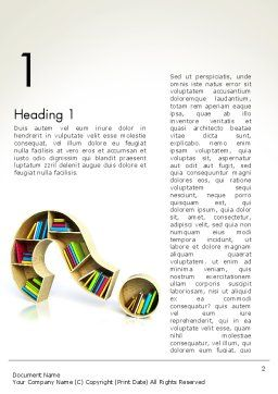 Question Mark With Books Word Template, First Inner Page, 13974, Education & Training — PoweredTemplate.com