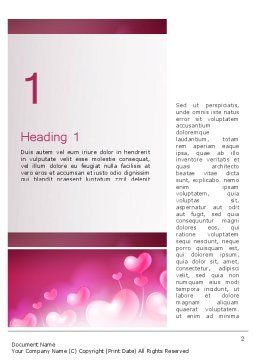 Fantasy Hearts Word Template, First Inner Page, 13977, Holiday/Special Occasion — PoweredTemplate.com