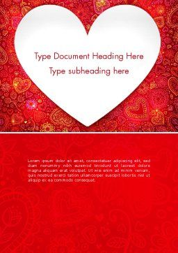 Love Frame Word Template, Cover Page, 13980, Holiday/Special Occasion — PoweredTemplate.com