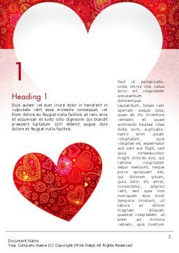 Love Frame Word Template, First Inner Page, 13980, Holiday/Special Occasion — PoweredTemplate.com
