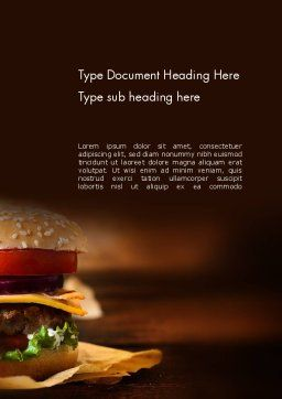 Gourmet Burger Word Template, Cover Page, 13981, Food & Beverage — PoweredTemplate.com