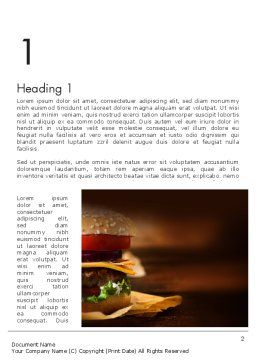 Gourmet Burger Word Template, First Inner Page, 13981, Food & Beverage — PoweredTemplate.com