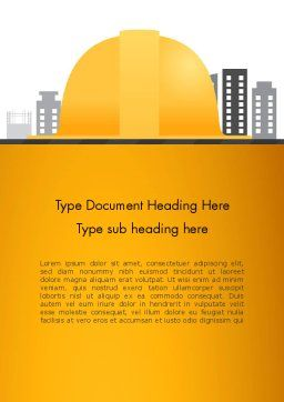 Constructing Theme Word Template, Cover Page, 13982, Construction — PoweredTemplate.com