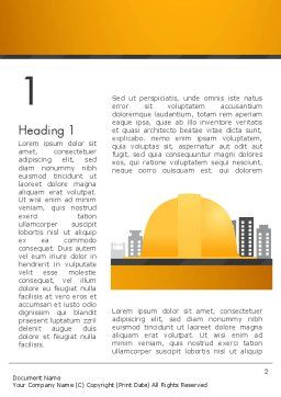 Constructing Theme Word Template, First Inner Page, 13982, Construction — PoweredTemplate.com