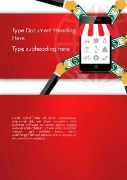 Online Mobile Purchases Word Template, Cover Page, 13983, Careers/Industry — PoweredTemplate.com