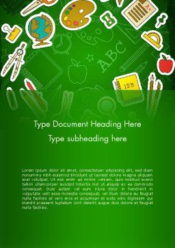 Educational Stuff Word Template Cover Page
