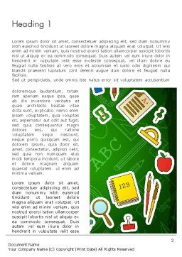 Educational Stuff Word Template First Inner Page