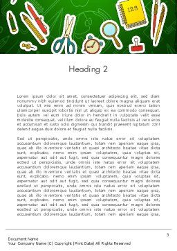 Educational Stuff Word Template Second Inner Page