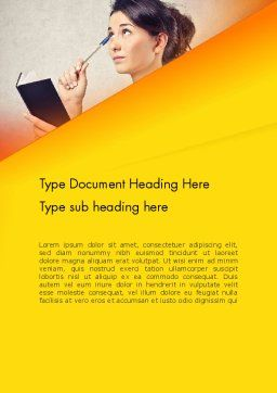 Memorizing Word Template, Cover Page, 13985, Education & Training — PoweredTemplate.com